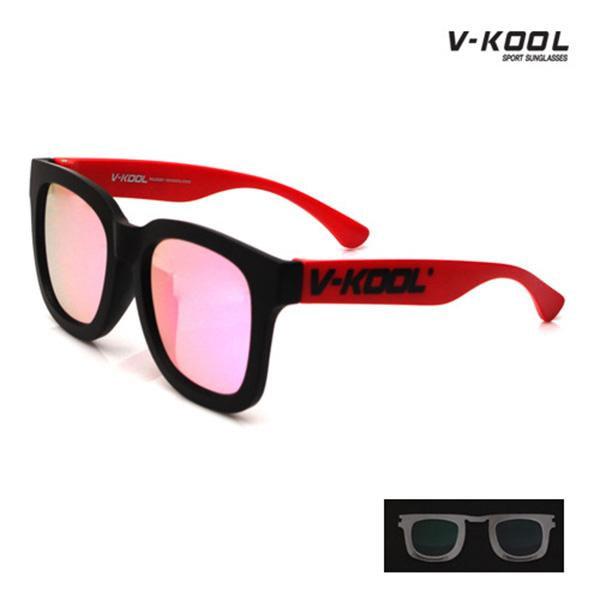V-KOOL-VK-1998-블랙스카이 핑크레드/선글라스/편광