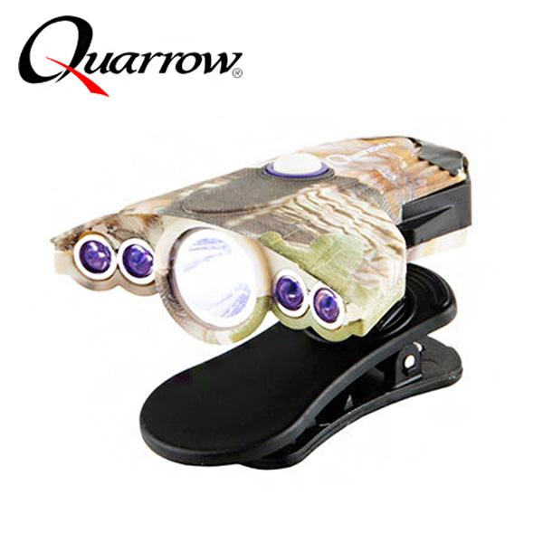 쿼로우-UV LED캡라이트 35루멘 카모6047/모자/랜턴