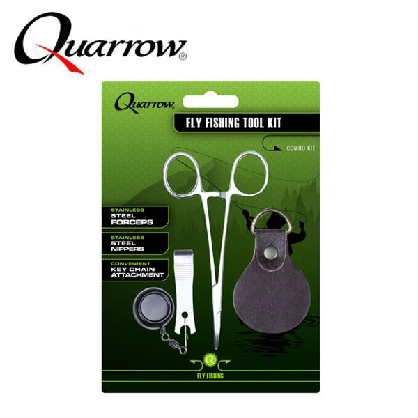 쿼로우-플라이 피싱 툴셋6223/포셉/라인커터/핀온릴셋